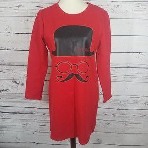 Dresses & Skirts - Red Mustache Sweater Dress